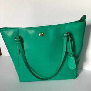 Coach zip city bag sea green-bundle w/wallet  $80